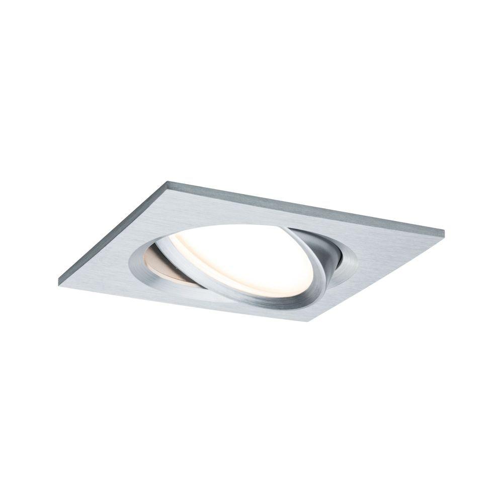 LED Einbaustrahler Nova Plus Coin Dimmbar 2700K Alu 2