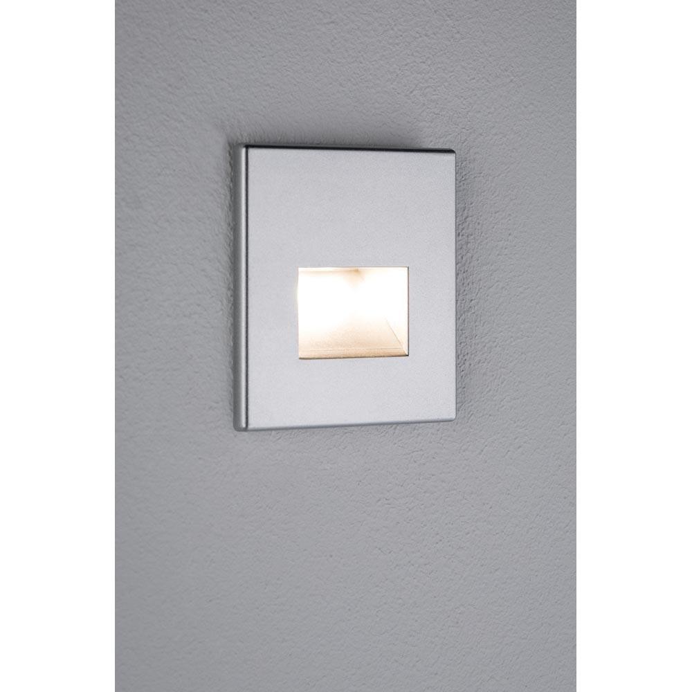 LED Wandeinbauleuchte Box 8 x 8cm 116lm Alu-Matt