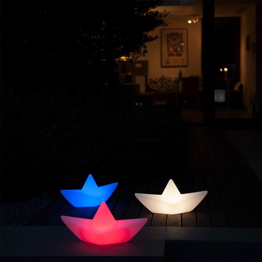 Schwimmfähige Akku-LED-Dekolampe The Boat thumbnail 3