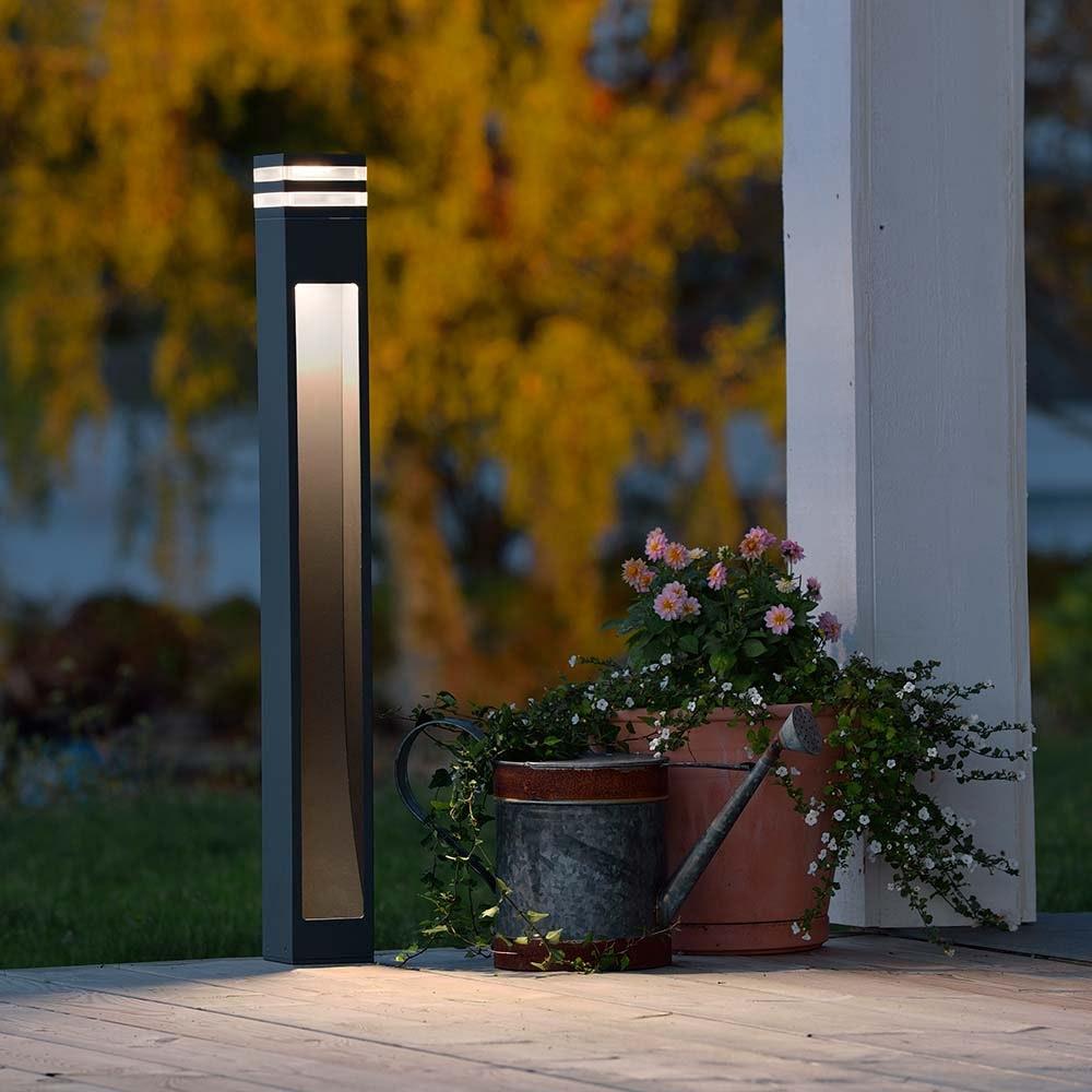 Massa LED Wegeleuchte Anthrazit, klares Acrylglas 1
