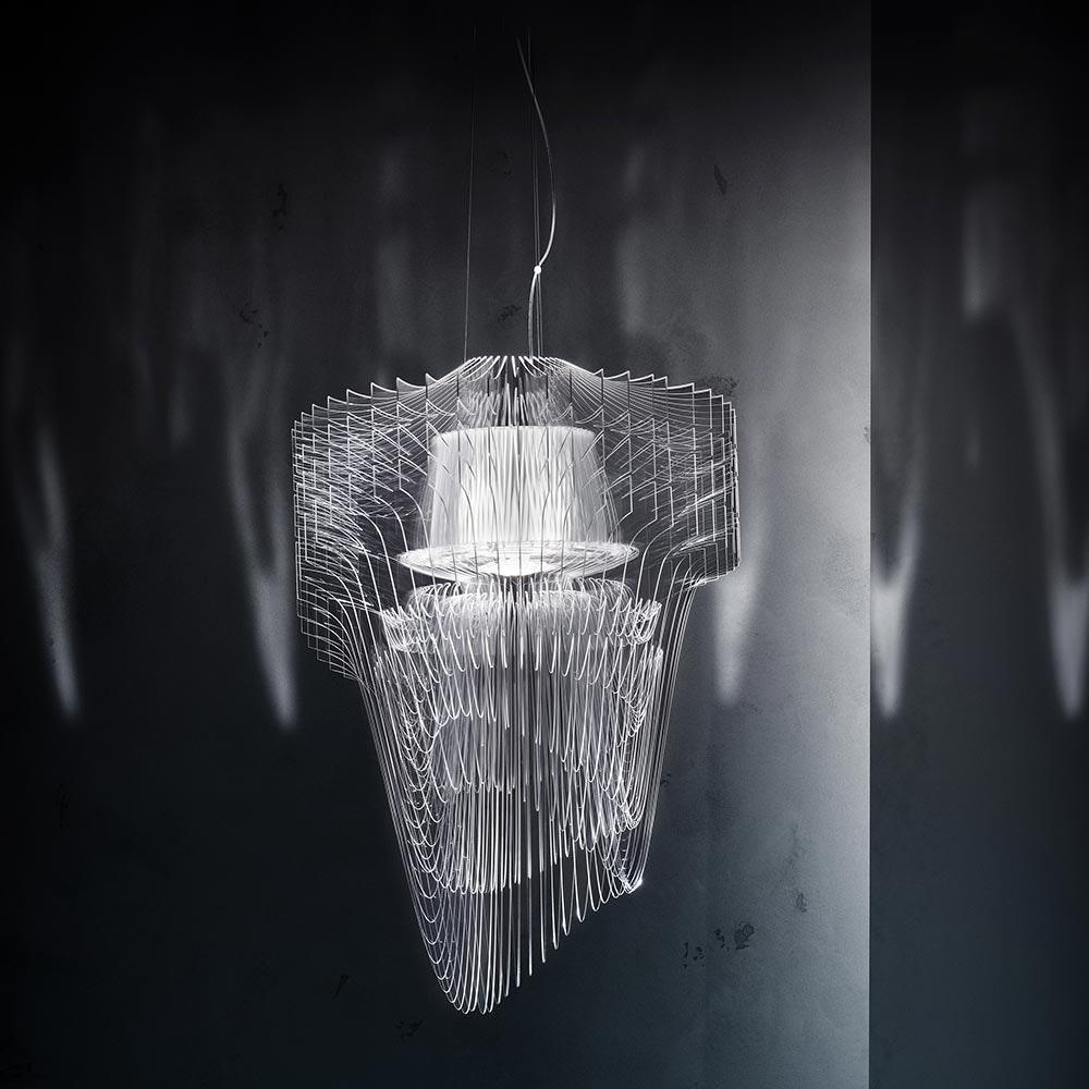 Slamp LED Hängeleuchte Aria Small 3500lm 2700K Transparent