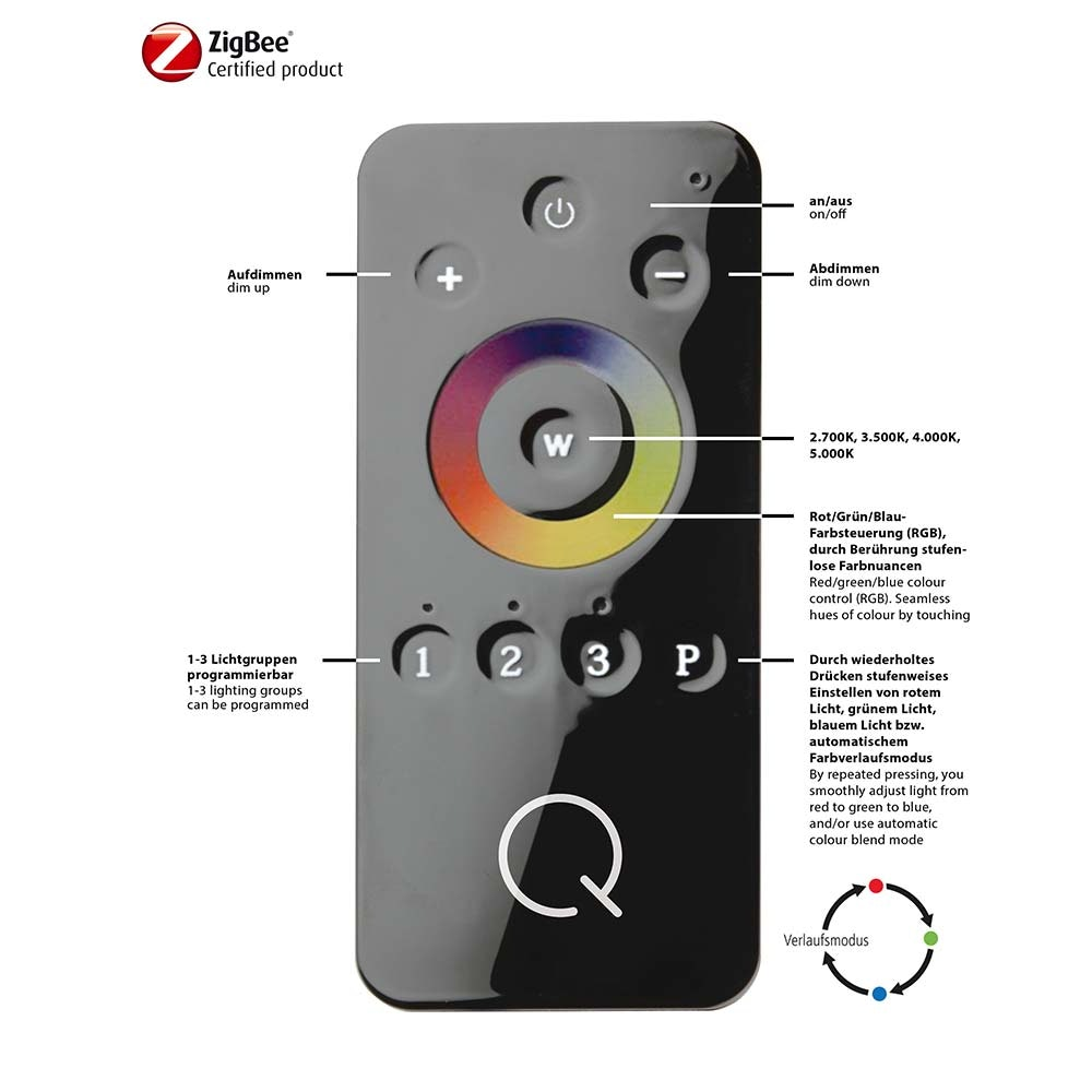 LED Deckenleuchte Q-Arktis RGB+CCT 5