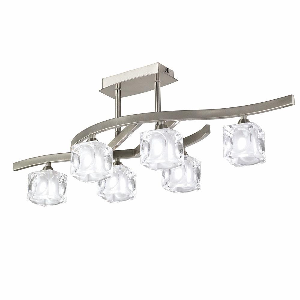 Mantra 6-flammige Deckenlampe Cuadrax Cristal 1