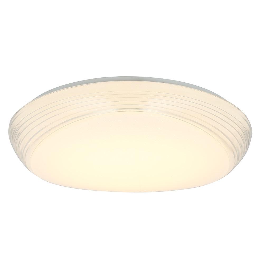 LED Deckenleuchte Lucas Sparkle Dekor CCT 3000-6000K Weiß, Opal 6