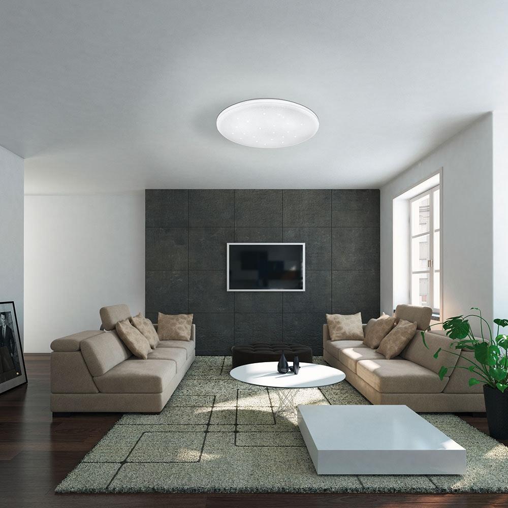 LED Deckenleuchte Frania-S Ø 33cm Kristalleffekt Weiß 2
