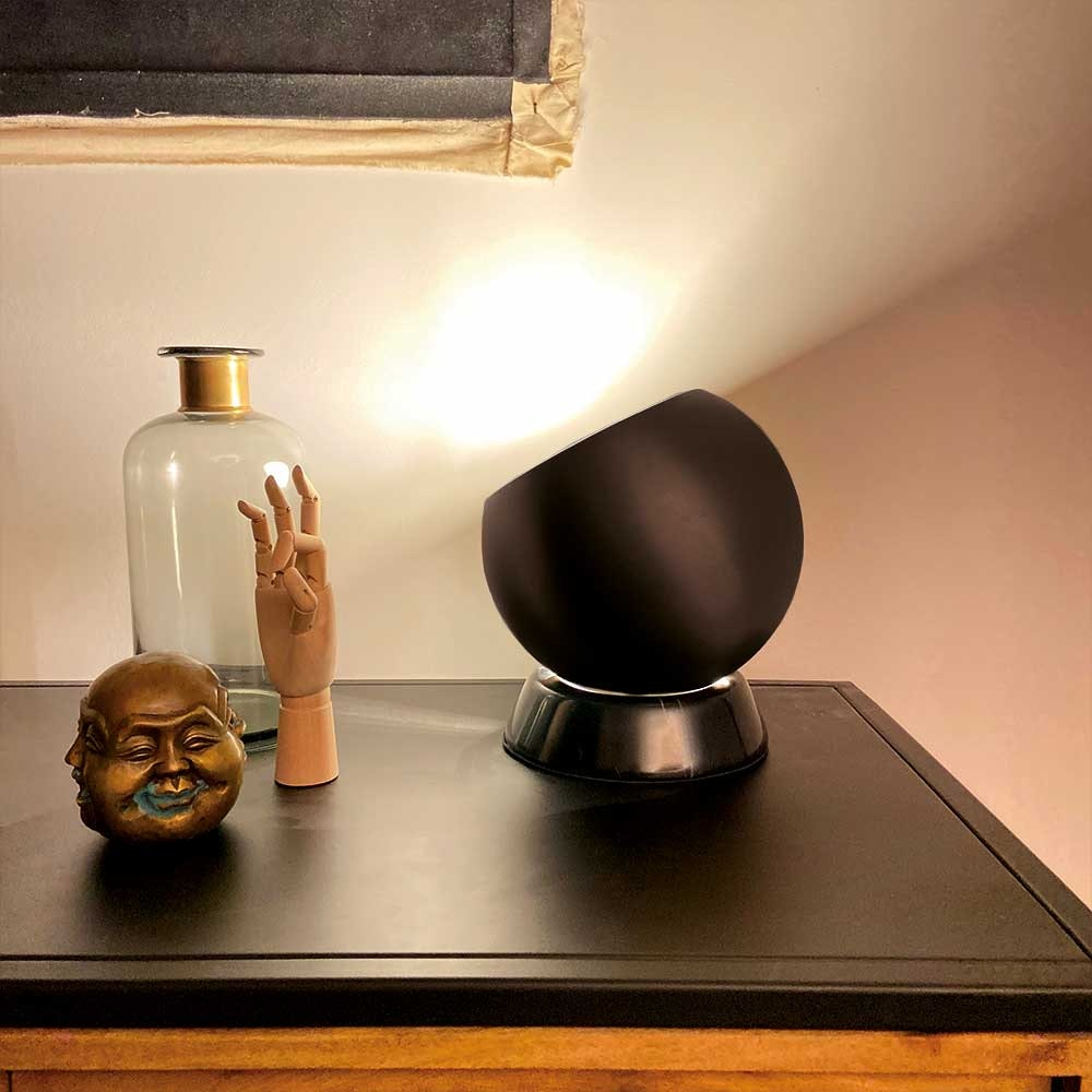 s.LUCE Ball Tischleuchte schwarzer Marmor Ø 20cm thumbnail 6