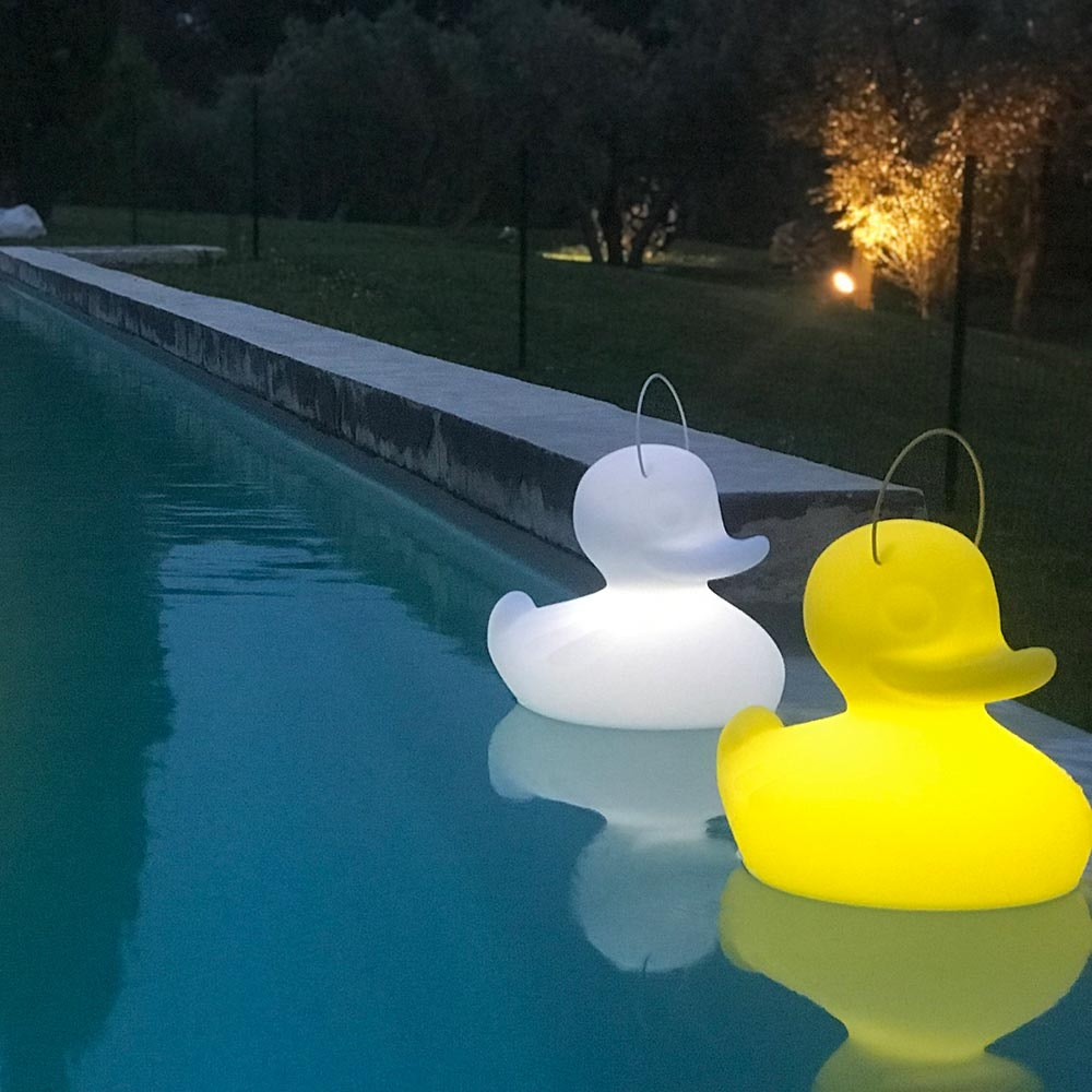 Schwimmfähige Akku-LED-Lampe Duck-Duck XL Gelb 4