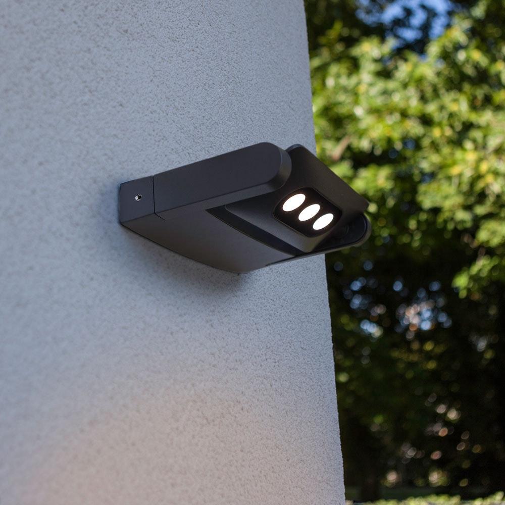 Mini LED Spot einstellbare Außenwandleuchte IP65 Anthrazit 1