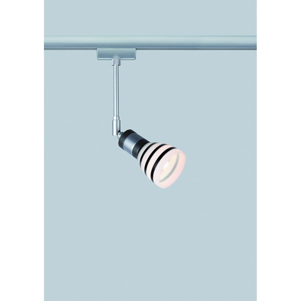 URail System Light&Easy Spot Titurel 1x42W G9 Opal Schwarz Glas 2