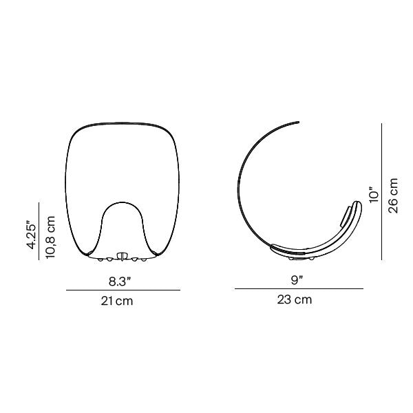 Luceplan LED Tischlampe Curl Dimmbar thumbnail 3