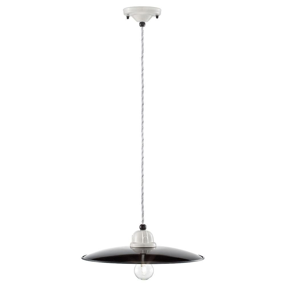Ferroluce B&W Deckenlampe Ø 35cm