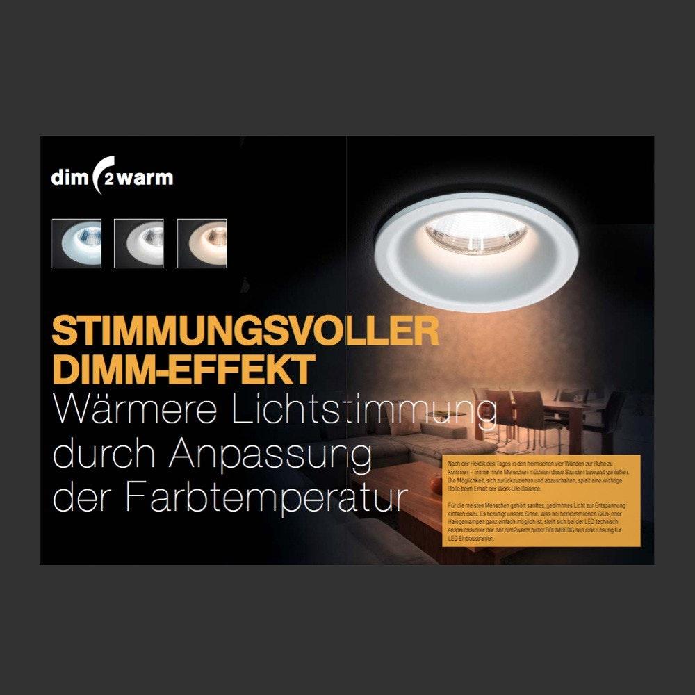 Brumberg LED-Einbaustrahler rund dim2warm & schwenkbar Alu-Matt 3