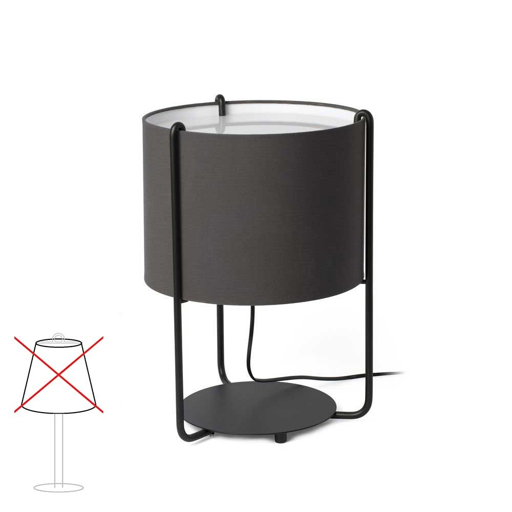 Drum Tischlampe Schwarz (ohne Schirm) 1