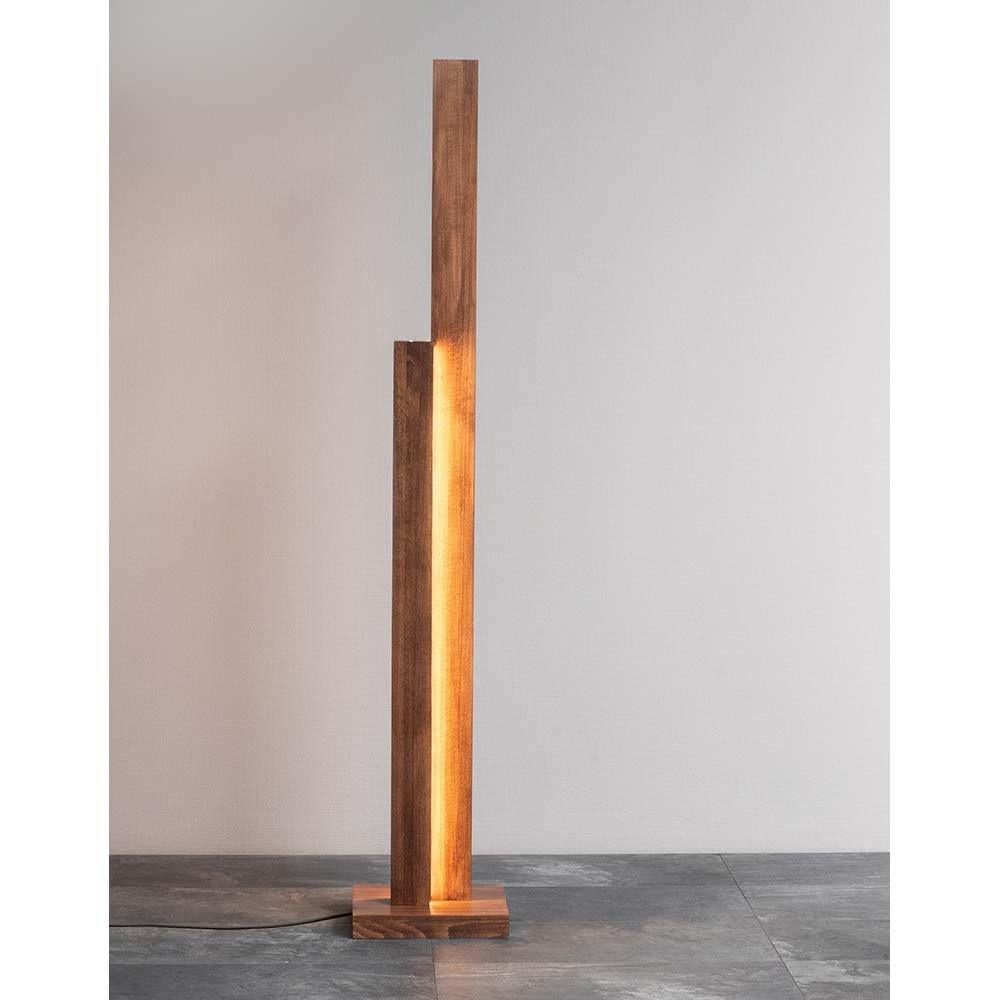 LED Stehleuchte Manhattan Touch-Dimmer 3500lm Nuss 4