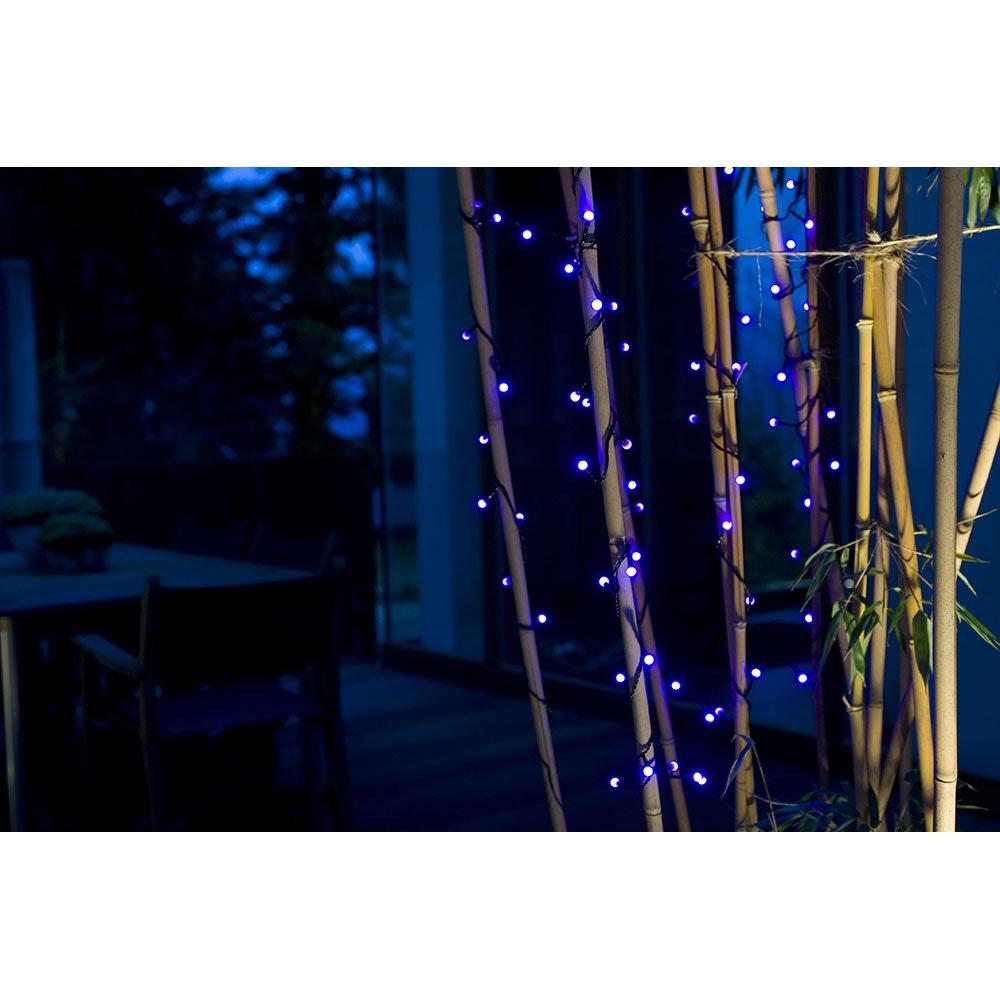 LED Globelichterkette runde Dioden 80 purpurfarbene Dioden IP44 1