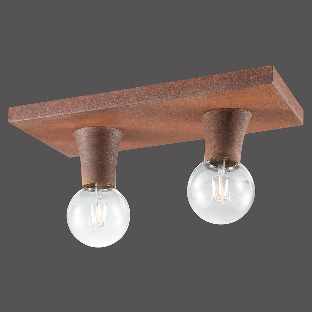 Deckenlampe Turn Me 2-flg. Rostfarben 4
