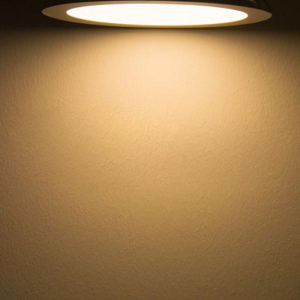 LED Einbaupanel Ø 22,5cm flach rund weiss dimmbar 18W warmweiss 2