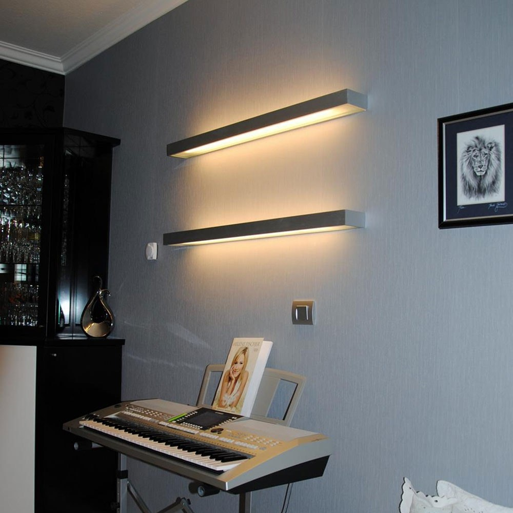s.LUCE Cusa LED-Lichtboard 70cm Wandleuchte Up&Down Alu-gebürstet 9