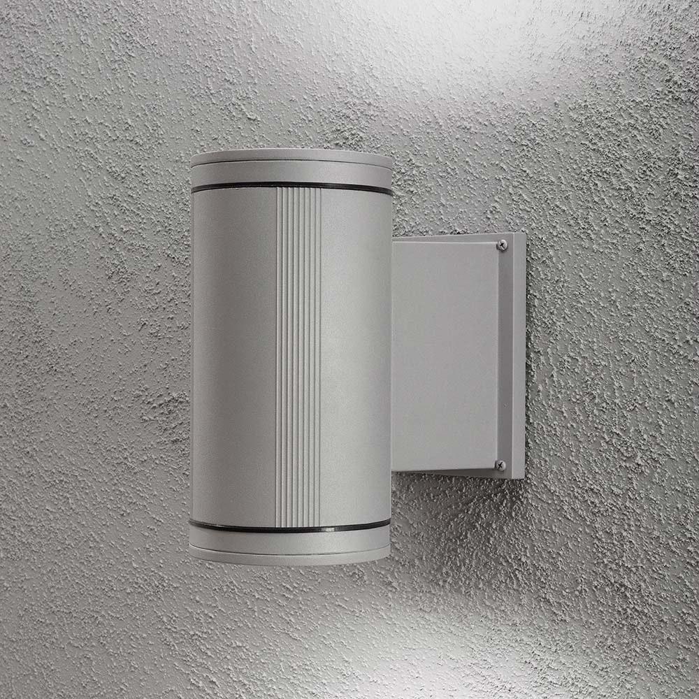 Siracusa Aussen-Wandleuchte mit Halogen Leuchtmittel Grau, klares Glas, Reflektor 1