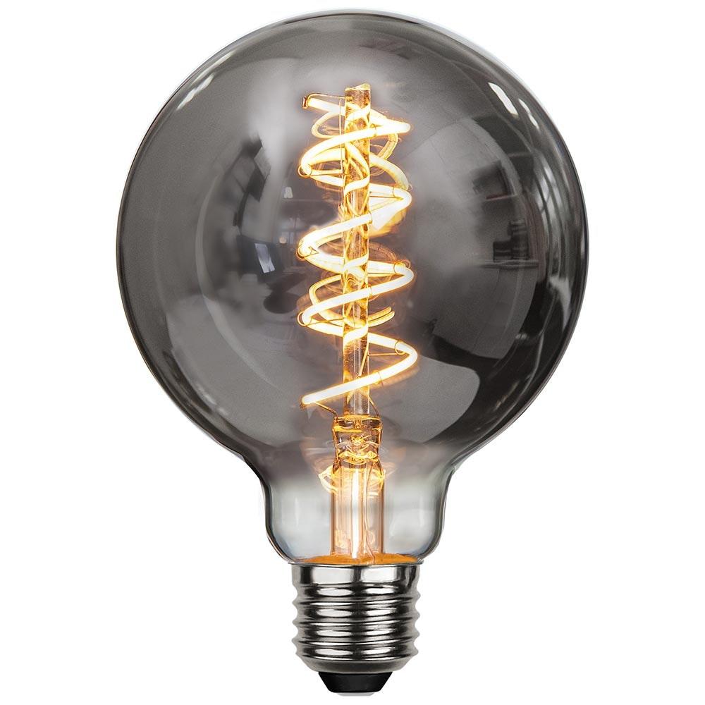 E27 LED Heavy Smoke 9,5cm Globe Dimmbar 90lm Extra Warmweiß 2