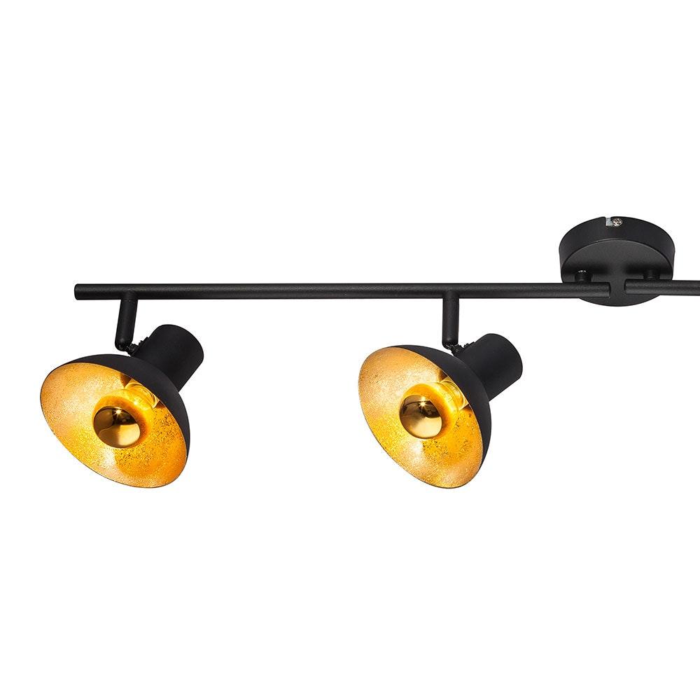 Licht-Trend LED Strahler Rondon 4-flg. beweglich Schwarz, Goldfarben 4