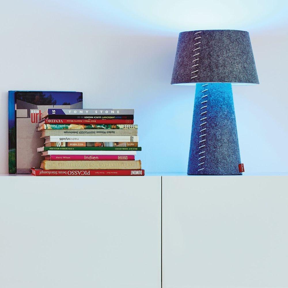 Moree LED Tischleuchte Alice aus Filz Grau
