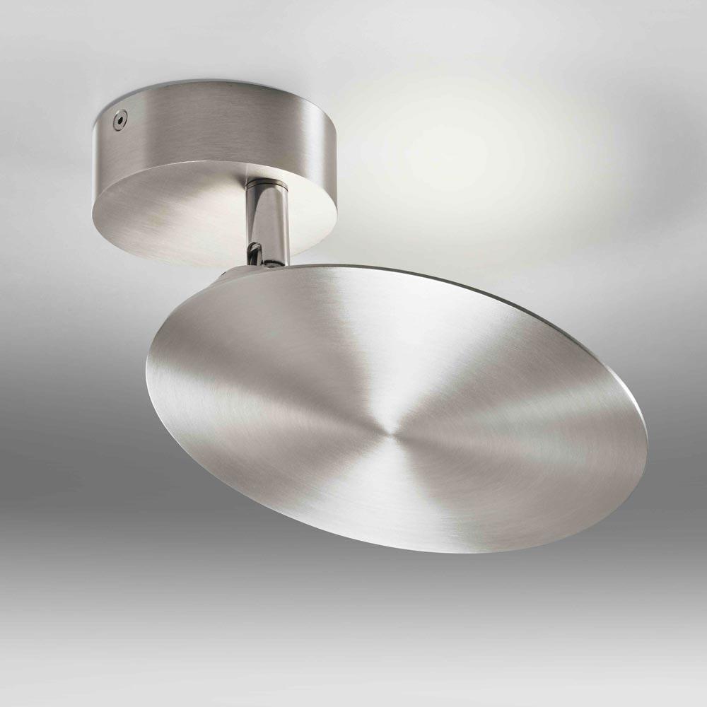 Disk dreh- & schwenkbare indirekte LED-Decken- & Wandlampe 960lm Alu-matt 2