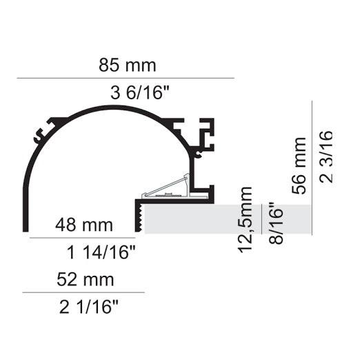 Panzeri Manhattan Einbauprofil für LED-Strips 2