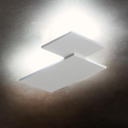 Studio Italia Design Puzzle Double eckig 48cm LED Wand- & Deckenleuchte thumbnail 4