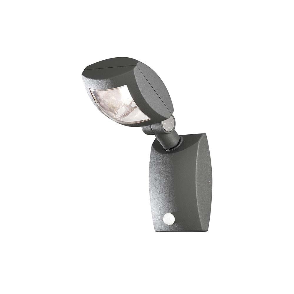 Latina LED Aussen-Wandleuchte mit Bewegungsmelder Anthrazit, klares Acrylglas 3