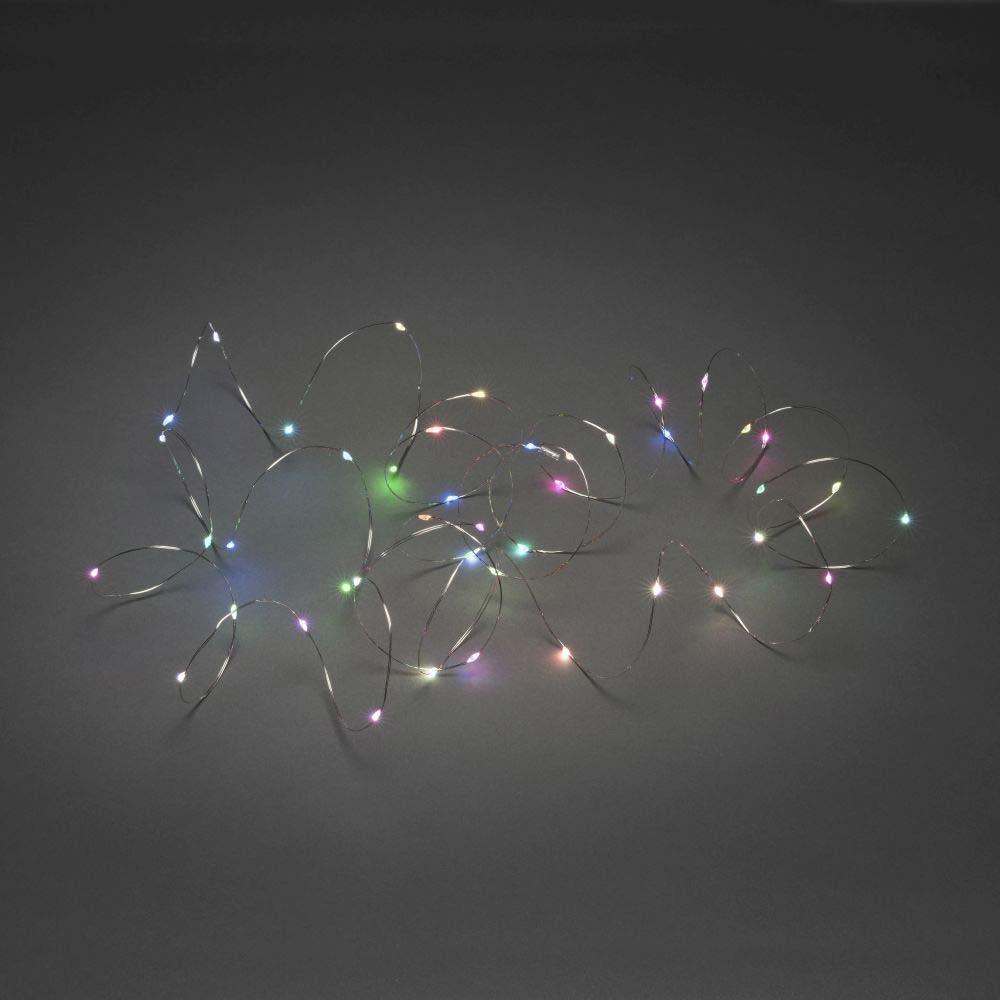 Micro LED Lichterkette mit langsamen und schnellen Farbwechsel 100 bunte Dioden 2