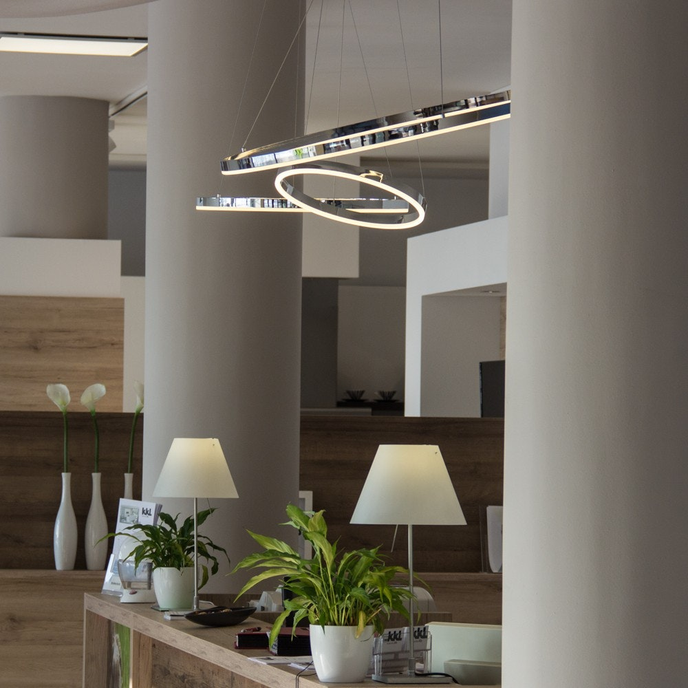 s.LUCE pro LED-Hängeleuchte Ring S 2.0 Ø 40cm + 5m Abhängung Dimmbar thumbnail 3