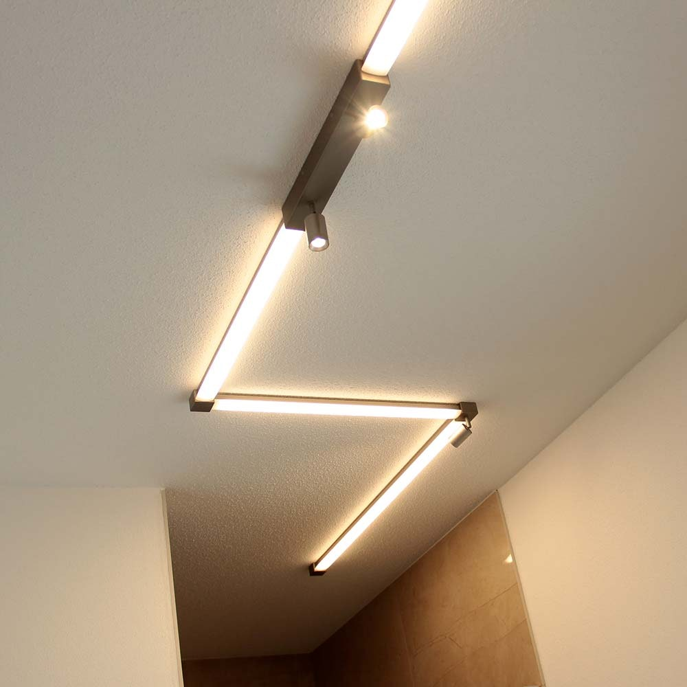 Helestra LED Strahler-Deckengehäuse Endeinspeisung Vigo Weiß 6