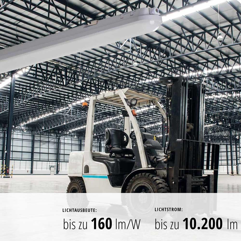 LED Wannenleuchte staubdicht 5250lm 150cm IP65 11