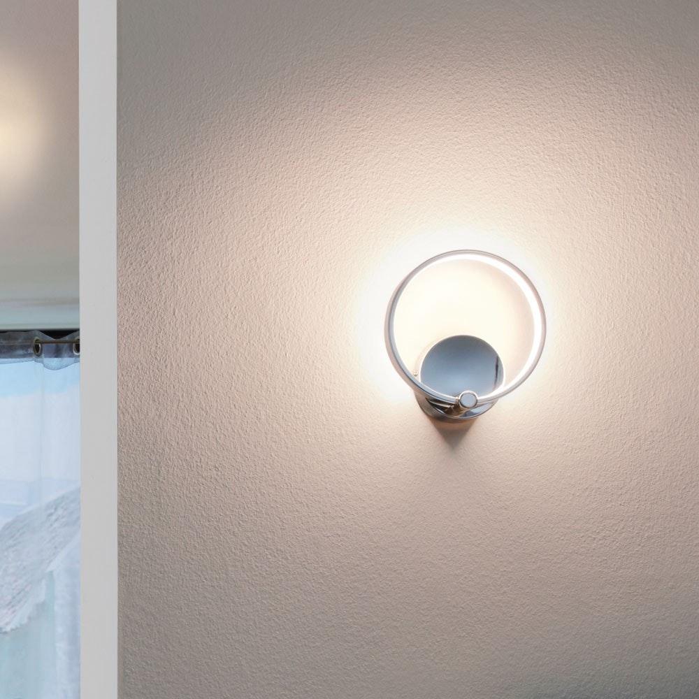 Circuit filigrane LED Wandleuchte 510lm Chrom thumbnail 3
