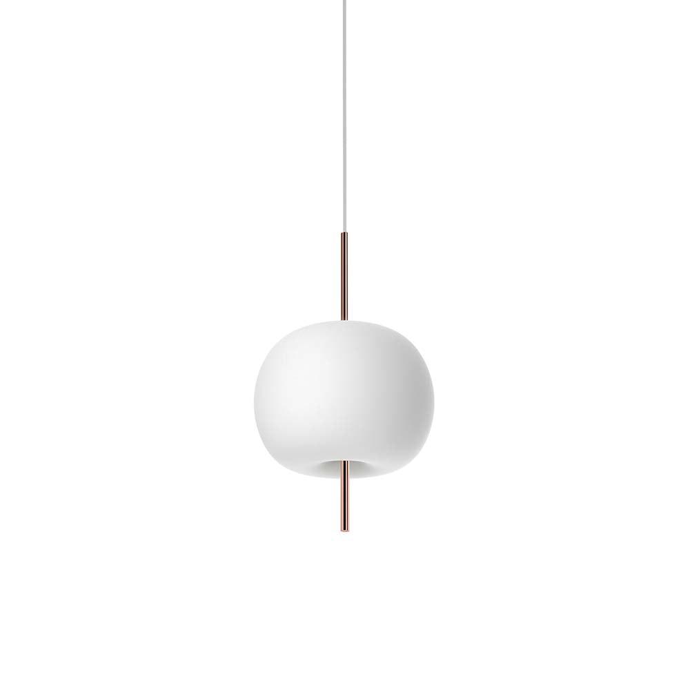 Kundalini Opalglas LED Pendelleuchte Kushi Ø 16cm 3