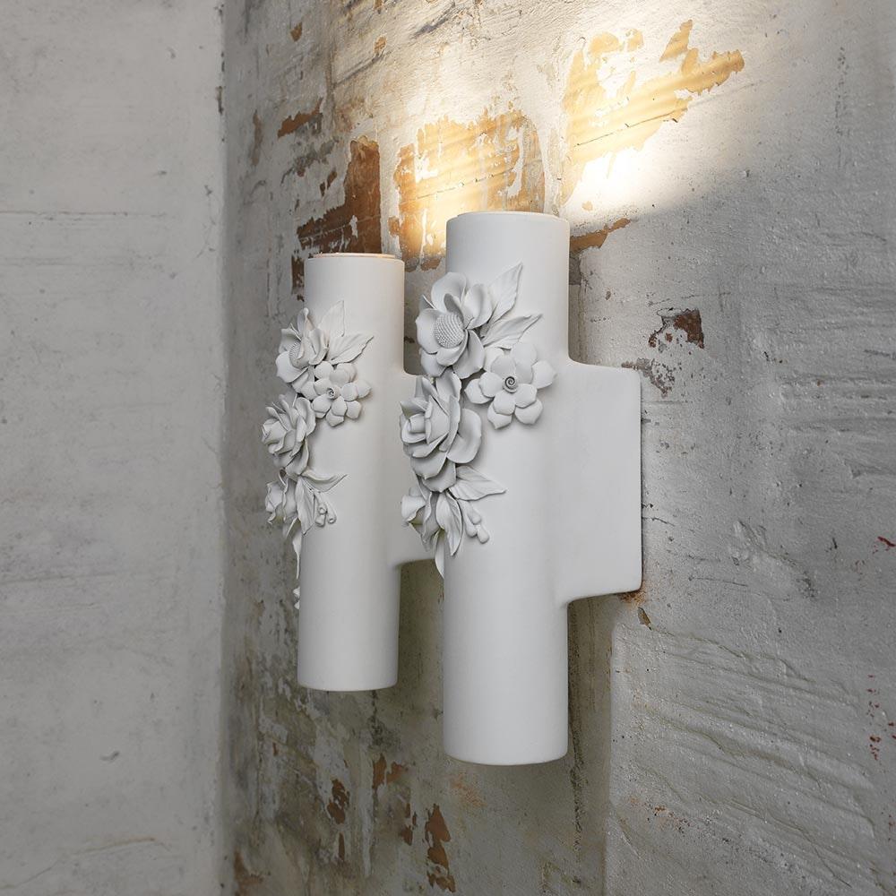 Karman Capodimonte Wandlampe Weiß 1