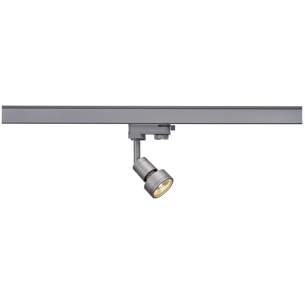 SLV PURI Lampenkopf Silbergrau GU10 max. 50W inkl. 3P.-Adapter 1