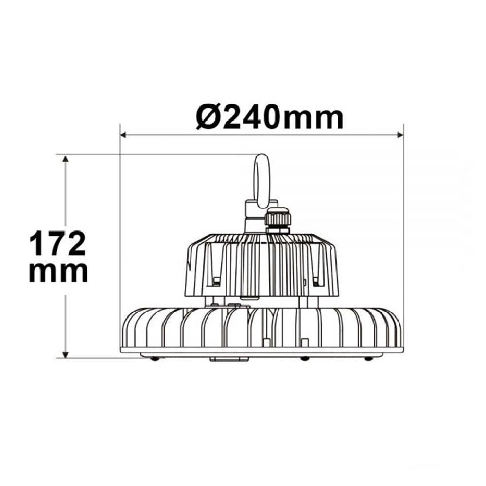 LED Hallenstrahler 120W 18000lm 90° IP65 1-10V dimmbar Neutralweiß thumbnail 3
