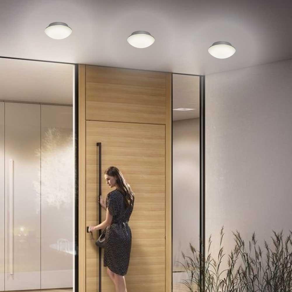 LED Außenwand- & Deckenleuchte Mini IP54 Ø 14cm Anthrazit 4