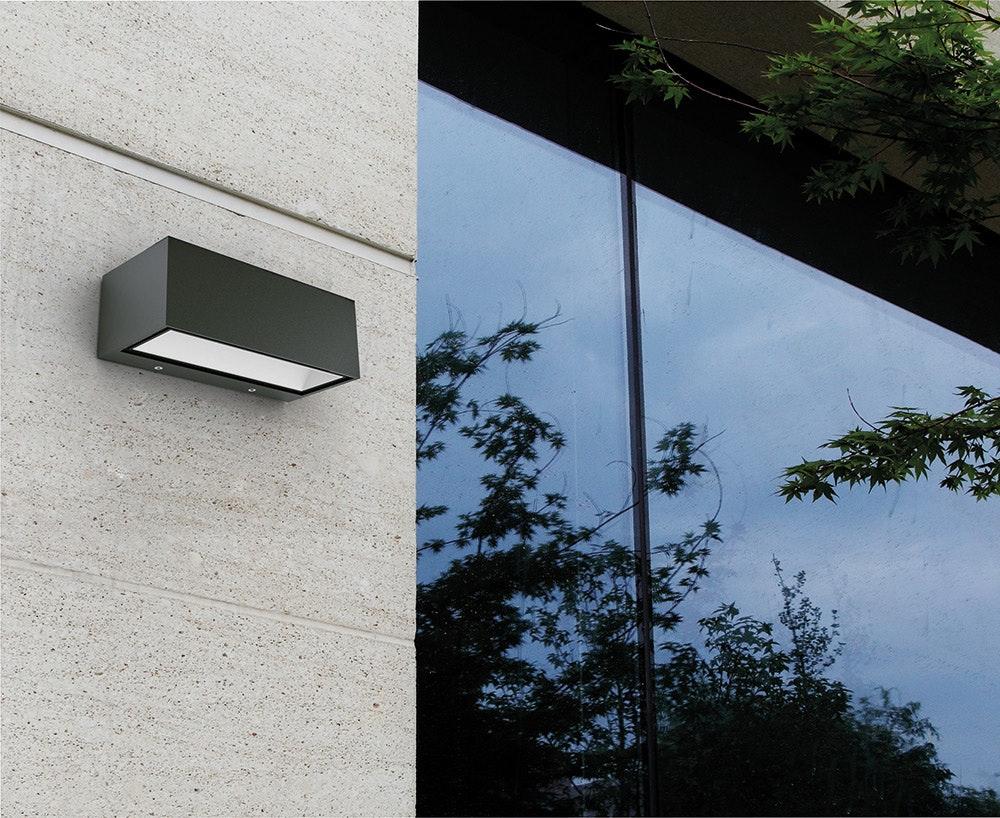 LED Außenwandlampe Gemini IP54 Anthrazit 3