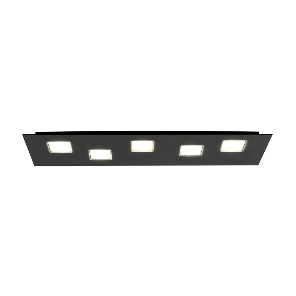 Fabbian Quarter LED-Deckenleuchte rechteckig 5-flammig 4