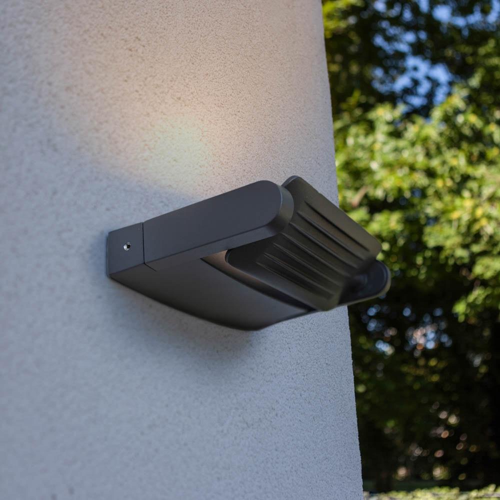 Mini LED Spot einstellbare Außenwandleuchte IP65 Anthrazit thumbnail 3
