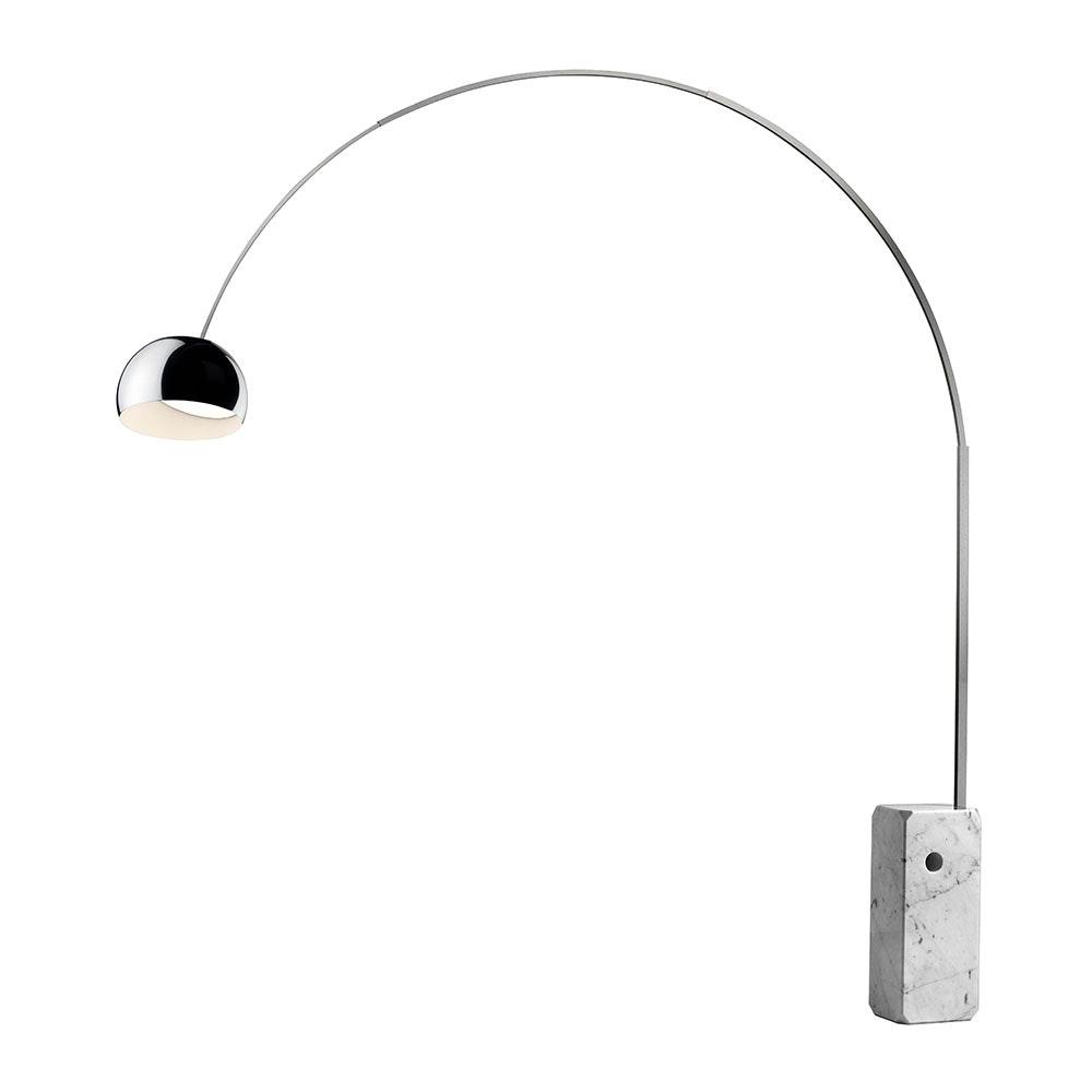 FLOS Arco LED Bogenlampe mit Marmor und Dimmer 2