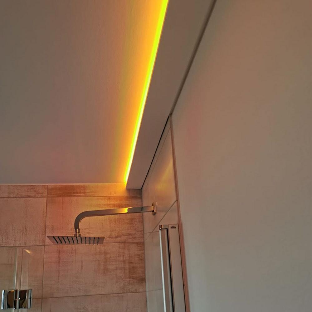 Dekor-Profil 6cm Stuckleiste 1,2 m indirekt Wand oder Decke 3