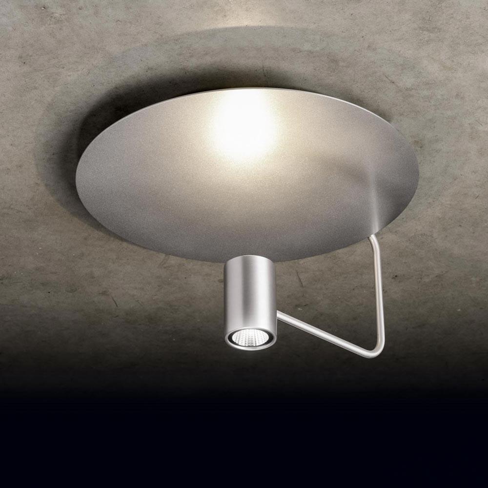 Reflektorplatte für Disc Deckenleuchte Silberfarben 2