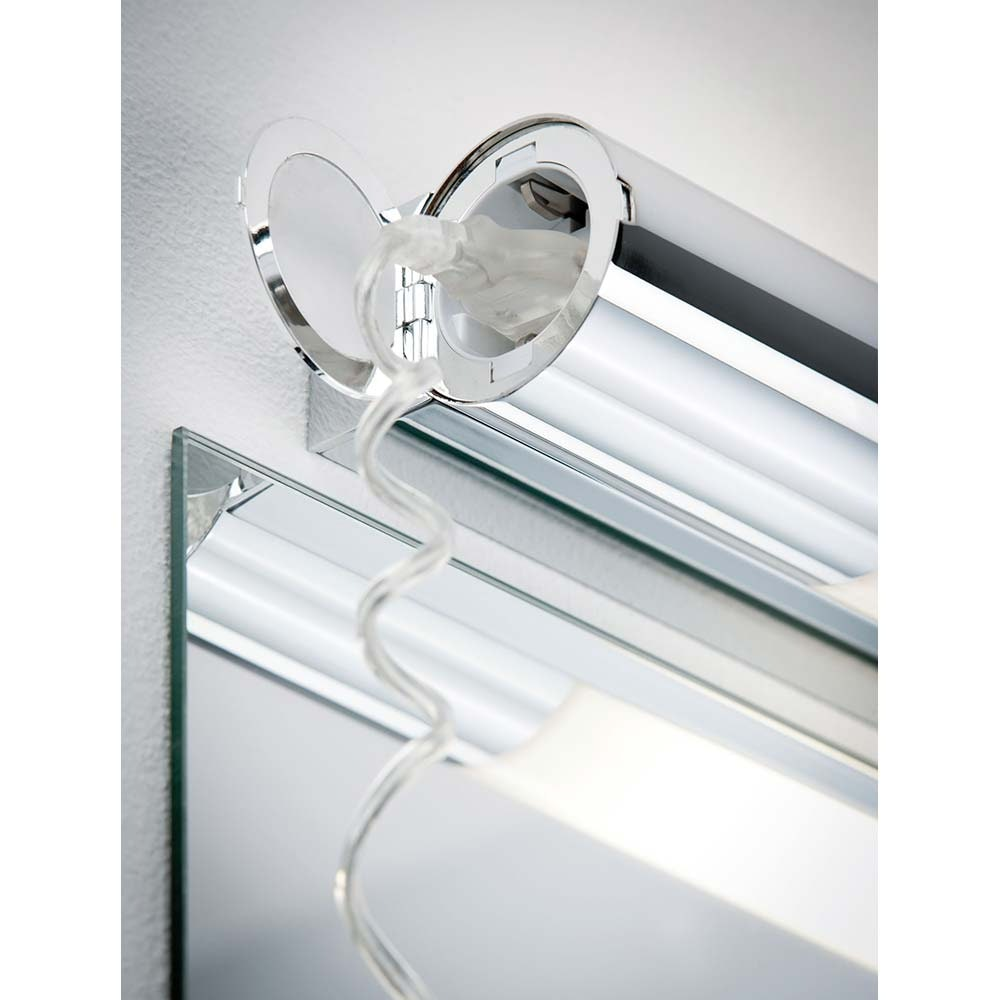Wandleuchte Orgon IP44 Steckdose LED 10,5W 700mm Chrom Weiß 2