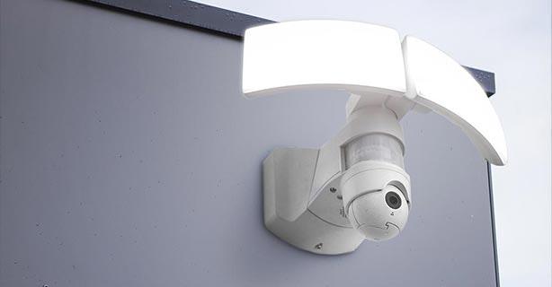 Aussenlampe mit Kamera