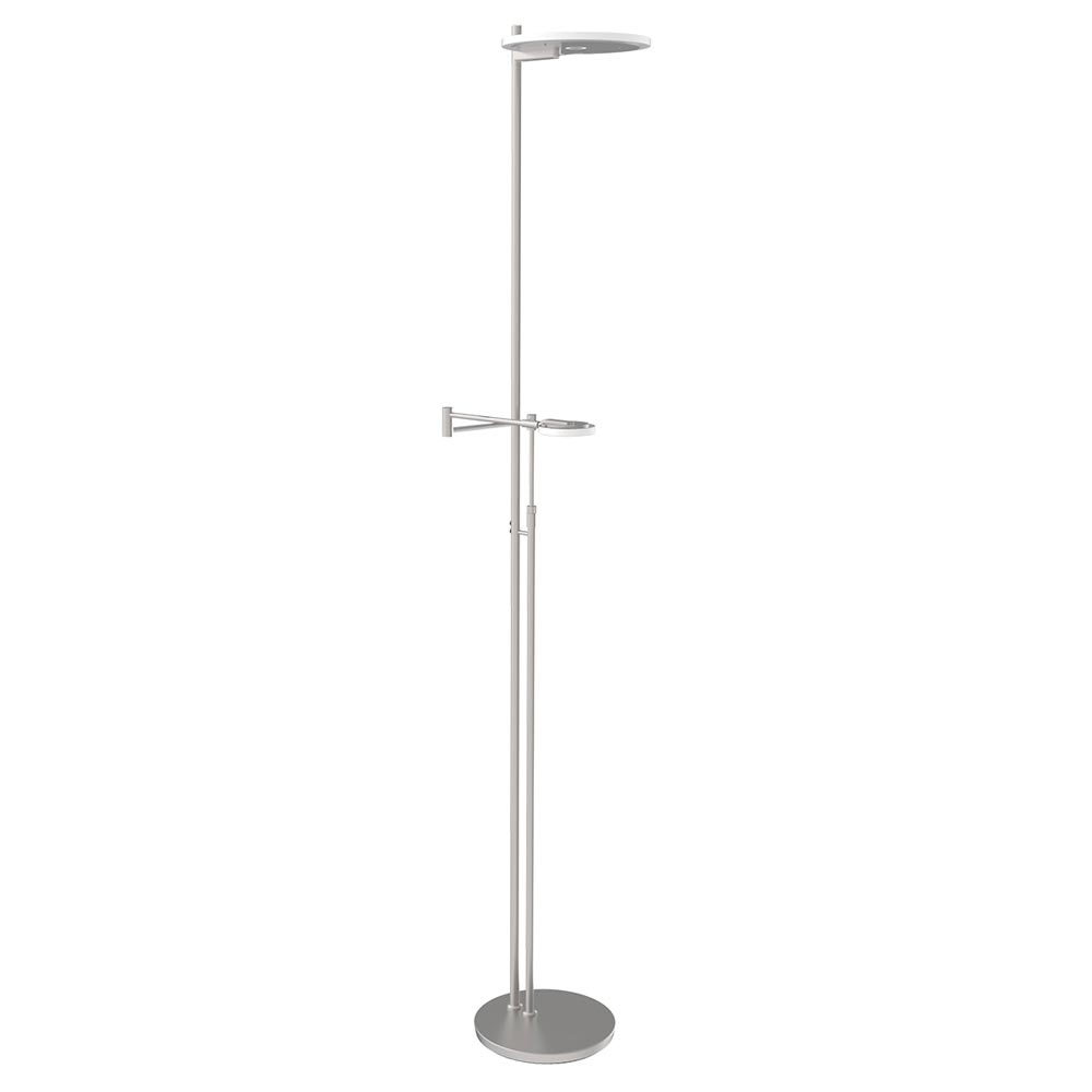 Steinhauer LED-Deckenfluter Turound LED mit Lesearm Tastdimmer 2700K 9