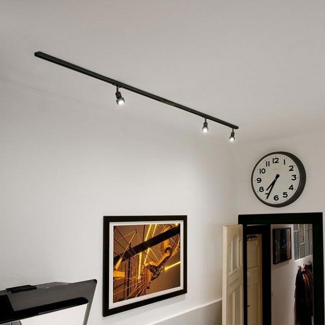 SLV 1-Phasen Hochvolt-Set Schwarz 2x1m inkl. 3xPURI und LED Leuchtmittel 1